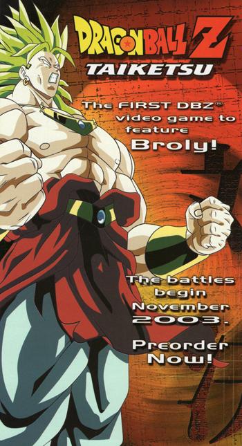 Advertisement for Dragon Ball Z: Taiketsu