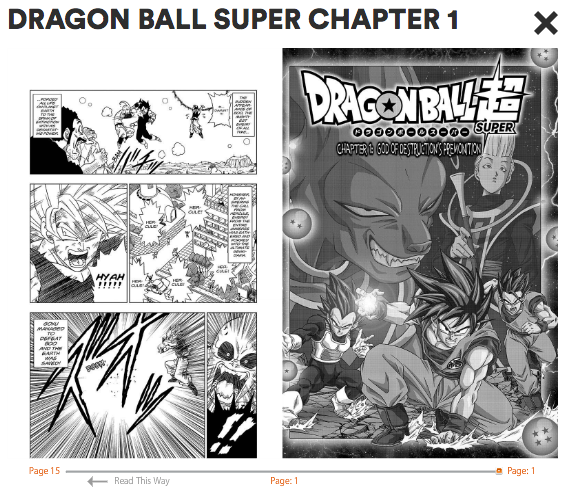 news viz posts dragon ball super manga chapter 1 english translation